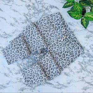 Denim - Skinny Cheetah Leopard Print Jeans NWOT